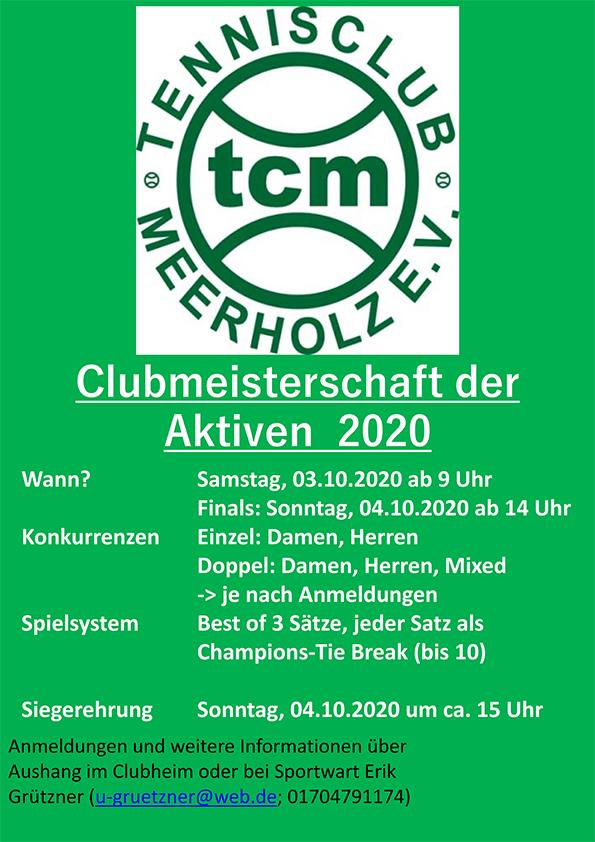 Clubmeisterschaft Erwachsene 2020