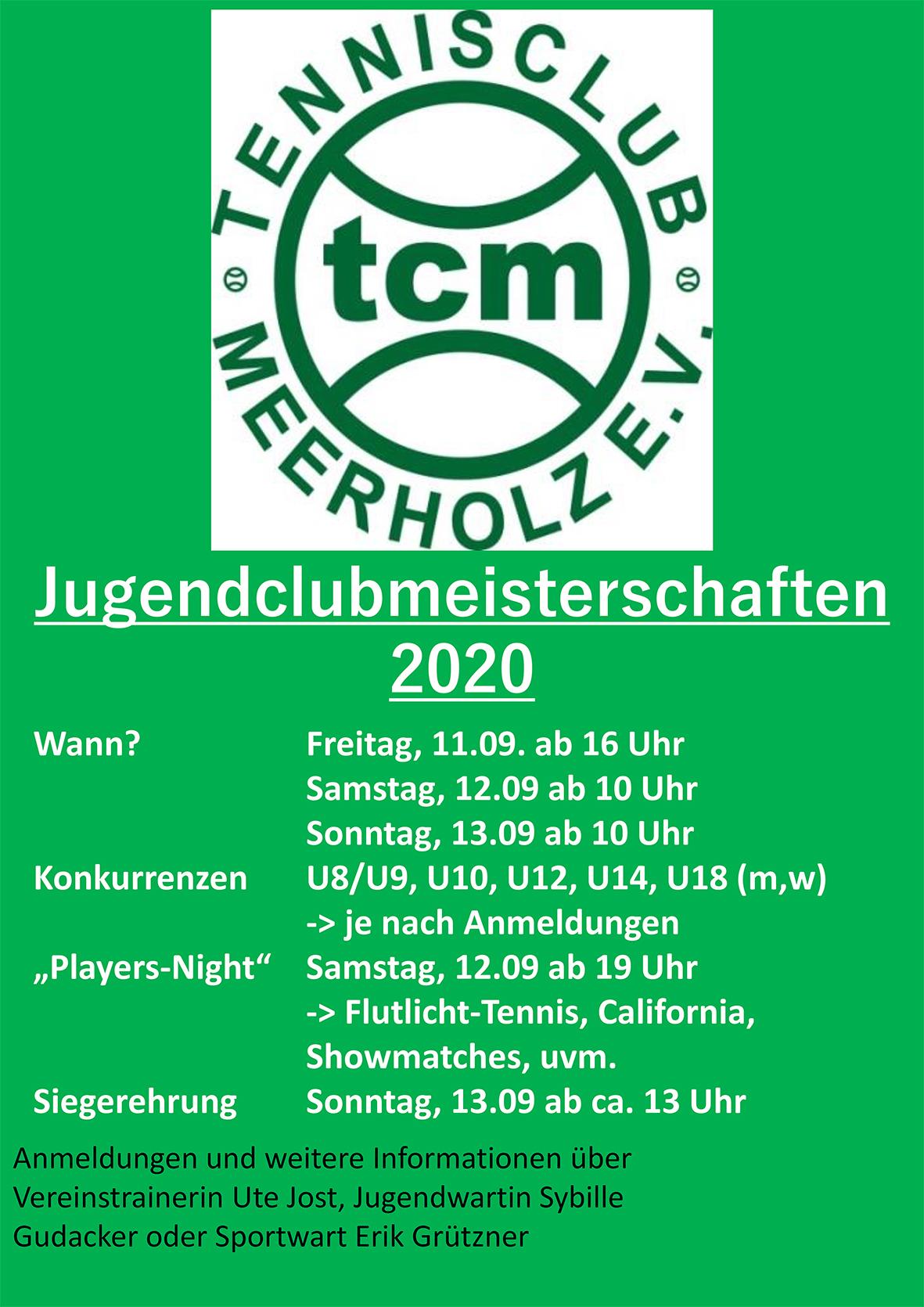 TCM-Jugendclubmeisterschaften 2020